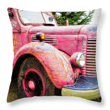 Four Alarm Blaze Throw Pillow