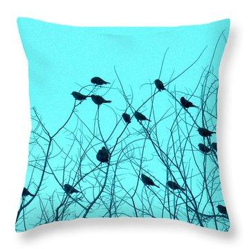 Four And Twenty Blackbirds Throw Pillow