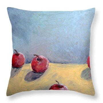 Four Apples Throw Pillow