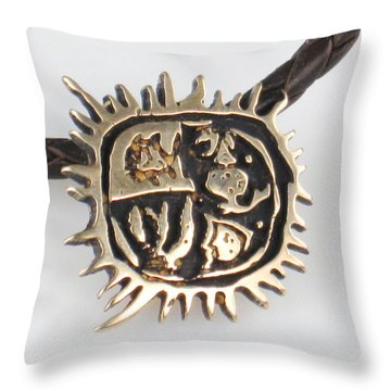 Four Cardinal Directions Del Sol Throw Pillow