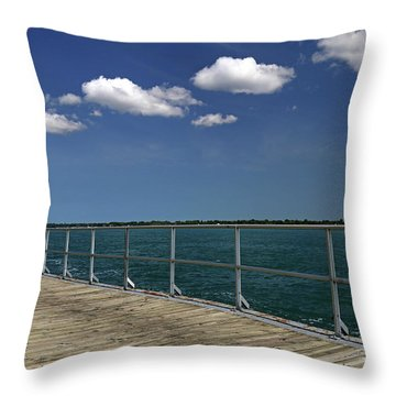 Four Clouds Over The Boardwalk Throw Pillow