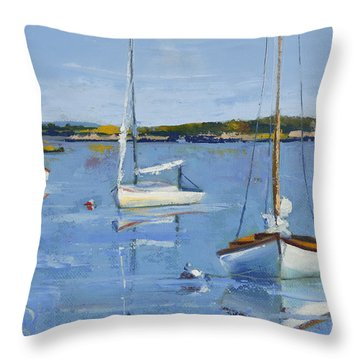 Four Daysailers Throw Pillow