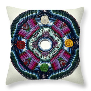 Four Directions Throw Pillow by Arla Patch