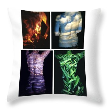 Four Elements Throw Pillow by Arla Patch