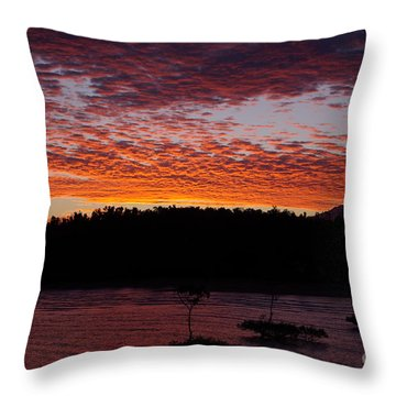 Four Elements Sunset Sequence 2 Coconuts Qld Throw Pillow by Kerryn Madsen - Pietsch