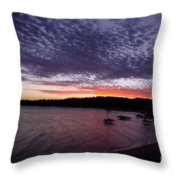 Four Elements Sunset Sequence 7 Coconuts Qld  Throw Pillow by Kerryn Madsen - Pietsch