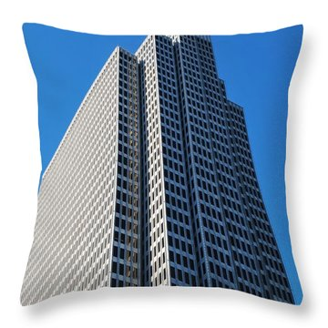 Four Embarcadero Center Office Building - San Francisco - Vertical View Throw Pillow
