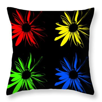 Throw Pillow featuring the photograph Four Flowers by Maggy Marsh