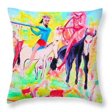 Four Horsemen Throw Pillow