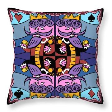 Four Kings Throw Pillow