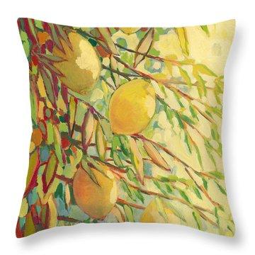 Four Lemons Throw Pillow