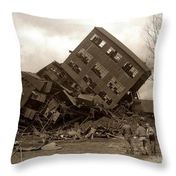 Four Old Friends...swoyersville Pa Throw Pillow by Arthur Miller