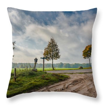 Four On The Crossroads Throw Pillow