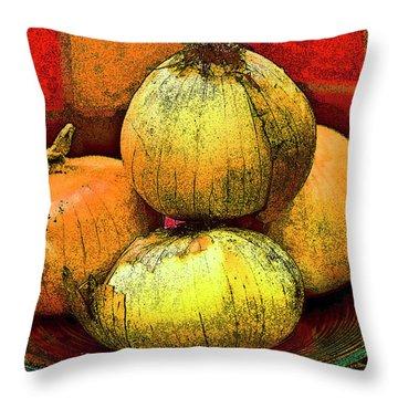Four Onions  Throw Pillow