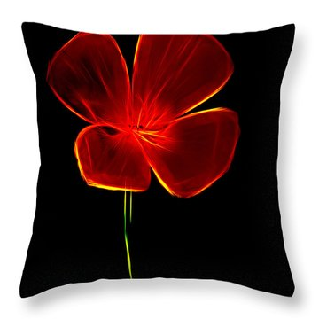 Four Petals Throw Pillow