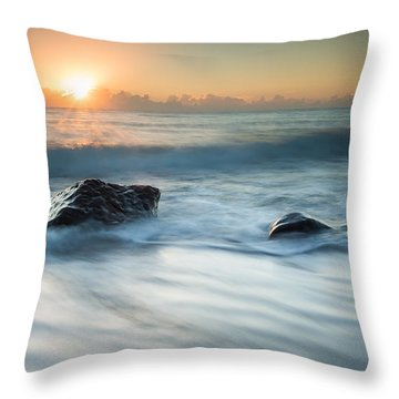 Four Rocks Throw Pillow