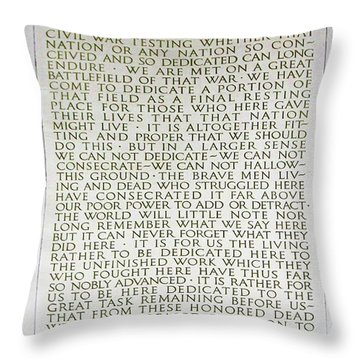 Four Score And Seven Years...... Throw Pillow