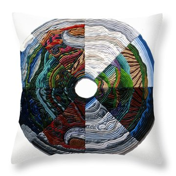 Four Seasons - Day And Night Throw Pillow by Arla Patch