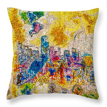 Four Seasons Chagall Throw Pillow