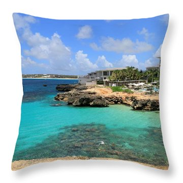 Throw Pillow featuring the photograph Four Seasons Hotel In Anguilla by Ola Allen