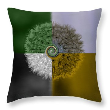 Four Seasons Throw Pillow by Karen Lewis