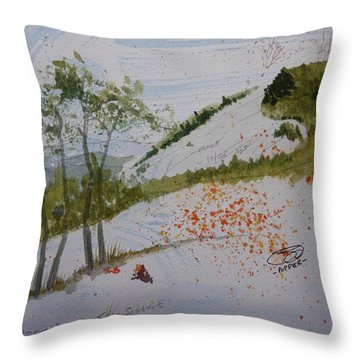 Four Sisters - First Draft Throw Pillow