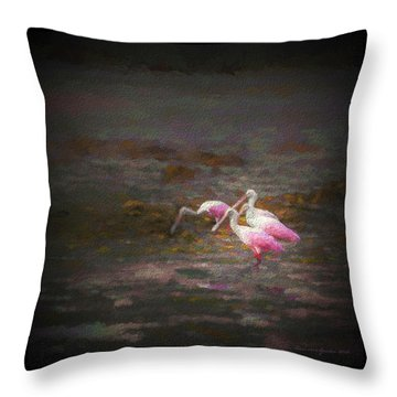 Four Spoons On The Marsh Throw Pillow