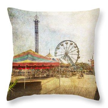 The Ferris Wheel Throw Pillow