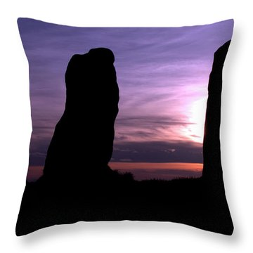 Four Stones Folly Clent Hills Throw Pillow