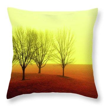 Four Trees Throw Pillow
