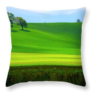 Four Trees On Livermore Road Throw Pillow