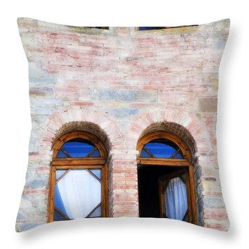 Four Windows Throw Pillow by Marilyn Hunt
