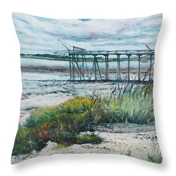 I'le Madame Fouras La Rochelle France 2016 Throw Pillow by Enver Larney