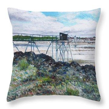 Fouras Village La Rochelle France 2016 Throw Pillow by Enver Larney