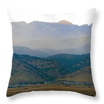 Fourmile Canyon Wildfire Front Range Wind View 09-09-10 Panorama Throw Pillow by James BO  Insogna