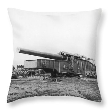 Fourteen Inch Gun Throw Pillow