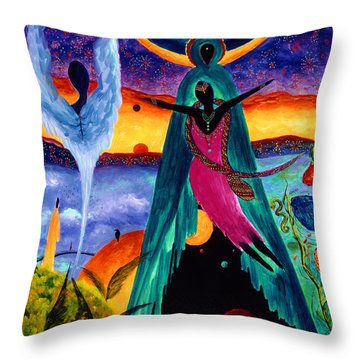 Flight Throw Pillow by Marina Petro