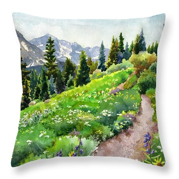 Fourth Of July Throw Pillow by Anne Gifford