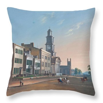Throw Pillow featuring the painting Fourth Street. West From Vine by John Caspar Wild