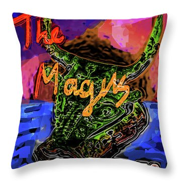 Fowles Magus Poster  Throw Pillow