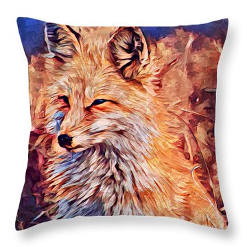 Fox 2 Throw Pillow
