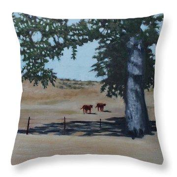 Fox Canyon Ranch Throw Pillow