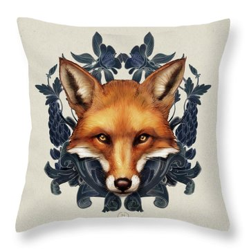 Fox Embellished Throw Pillow