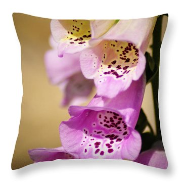 Fox Gloves Throw Pillow by Bill Cannon