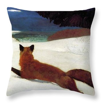 Fox Hunt Throw Pillow
