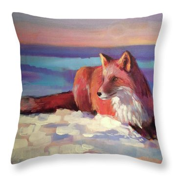 Fox II Throw Pillow