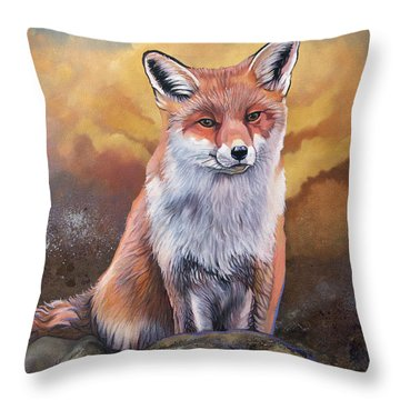 Fox Knows Throw Pillow