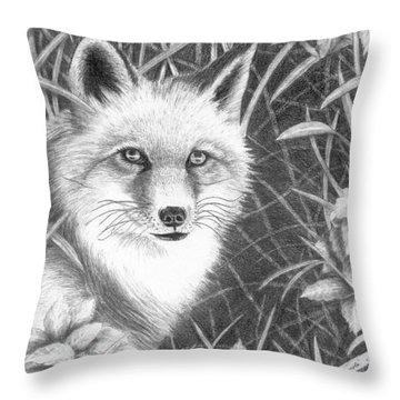 Fox Throw Pillow by Lawrence Tripoli