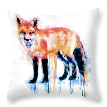 Fox  Throw Pillow by Marian Voicu