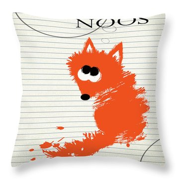 Fox Noos Throw Pillow